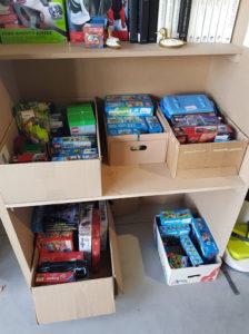 emplacement jouets legos, playmobile rangé bradrerie permanente brad'way