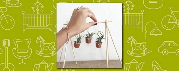 des capsules à café réutilisées pour fabriquer des mini pots de fleurs