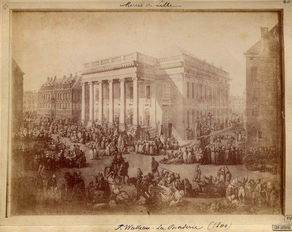 Place du théâtre en 1800